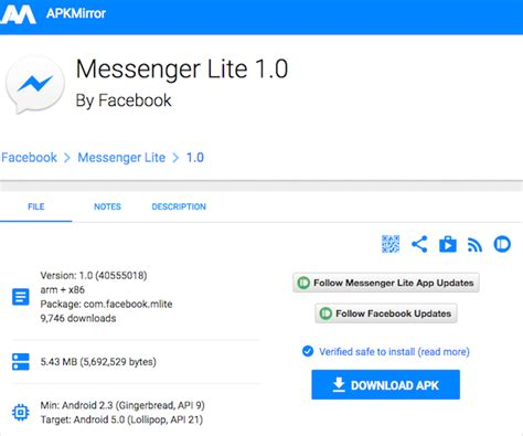 Facebook Messenger Lite Is The App We've All Been Waiting For