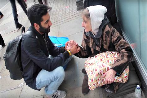 muslim man smashes stereotypes  giving  homeless