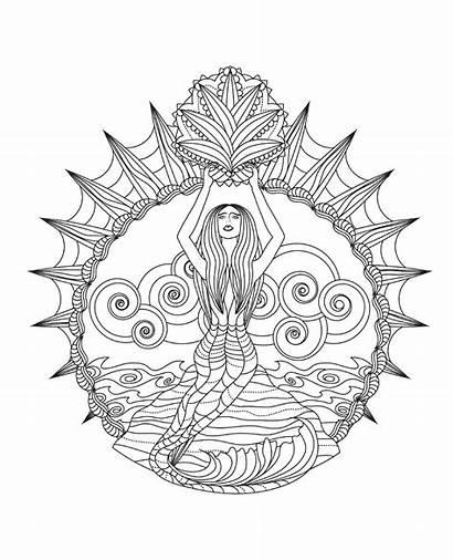 Ocean Coloring Mandalas Mindful Books