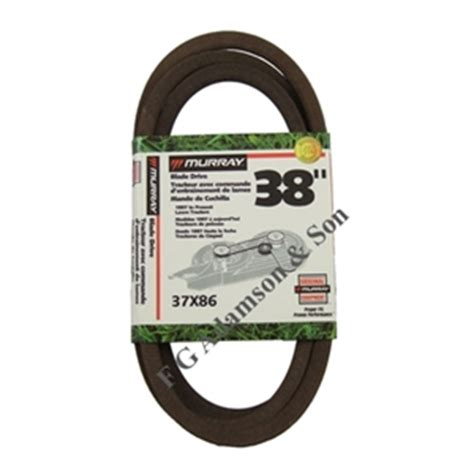 Murray Mower Deck Belt by Murray Cutter Deck Belt 37x86 Murray Lawnmower Belts