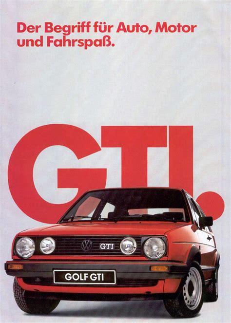 siege golf 1 gti 1985 golf mk2 gti brochures cult com