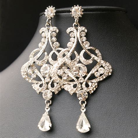 Wedding Earrings by Chandelier Wedding Earrings Vintage Style Bridal