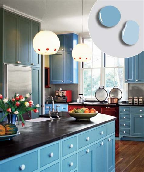 Kitchen Cupboard Colours by 4 Bold Blue Soft Blue 12 Kitchen Cabinet Color Combos