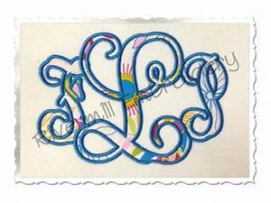 vine monogram applique machine embroidery alphabet font With applique letters embroidery designs