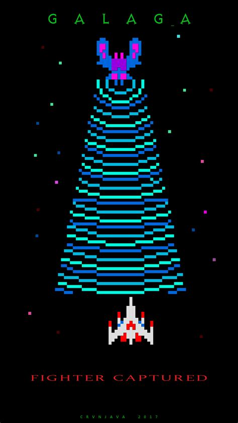 galaga fighter captured iphone wallpaper gaming video