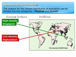 World population distrib and density IGCSE