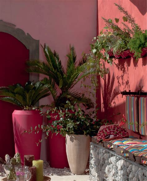 decoration de terrasse  jardin chic  choc