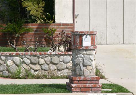 brick l post designs make your post envious with brick mailbox designs homesfeed