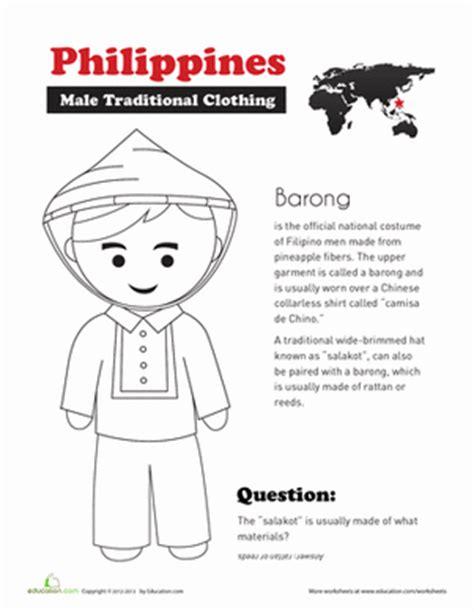 social studies philippines worksheets traditional clothing social studies worksheets
