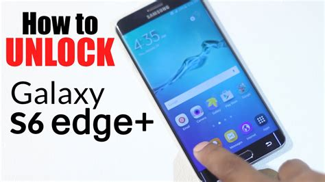 Unlock Samsung Galaxy S6 Edge Plus  How To Unlock From