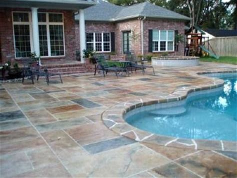 planning    concrete stain   pool home