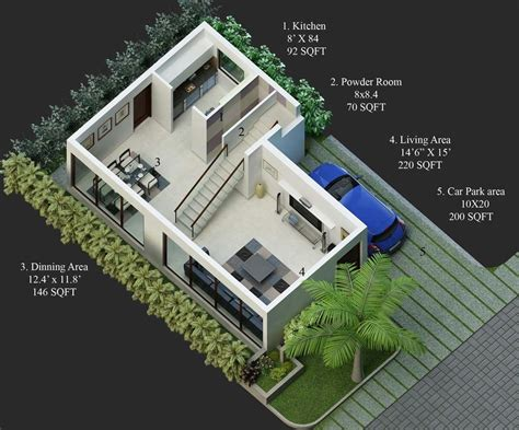 Home Design 20*30 :  North Face Duplex House Plans Bangalore 20x30