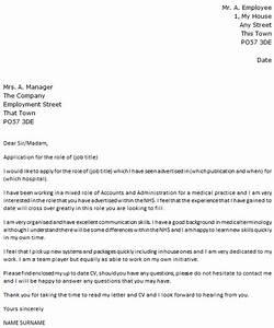 Cover Letter For Medical Officer Job Application Application Letter