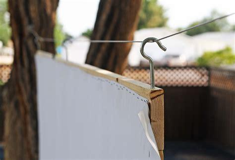 running  scissors diy outdoor  screen