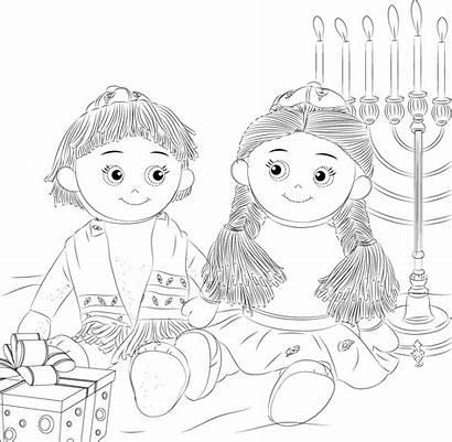 Shelf Coloring Elf Kantor Jewish Hanukkah Kippah
