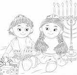 Shelf Coloring Elf Kantor Jewish Hanukkah Kippah Sheet Sheets sketch template