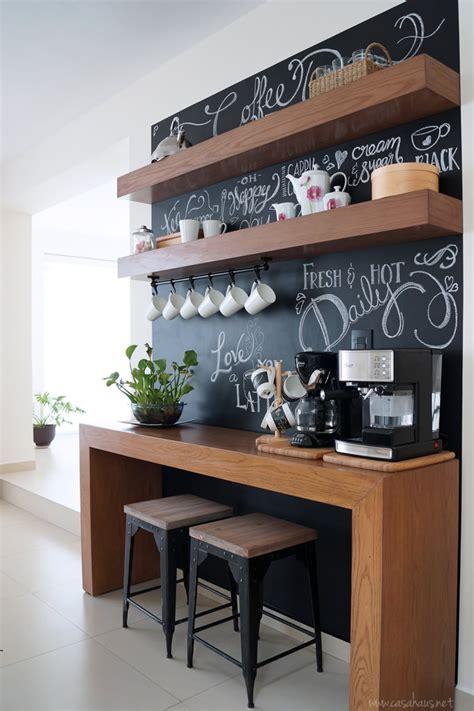 kitchen island with dining table antes y después coffee bar un rincón para el café