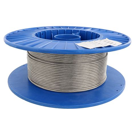 """18"""" X 500', 1x19, Type 316 Stainless Steel Cable Reel"""