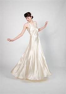 vintage 1930s wedding gown 30s wedding dress dramatic With 30s wedding dress