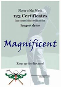 Golf Certificate Template Free Free Printable Golf Certificates And Golf Awards
