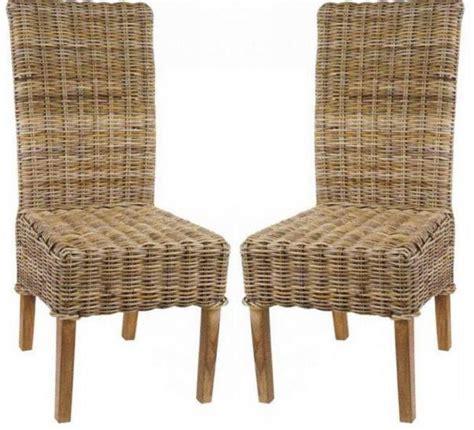 chaise de bain b b lot de 2 chaises en kubu tressé 5936