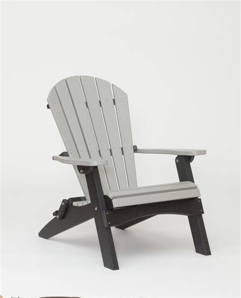 poly lumber folding adirondack lounge chair