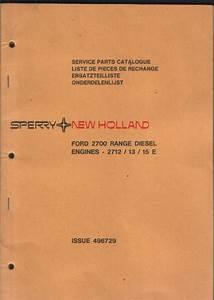 Ford Diesel Engine 2700 Range Parts Manual