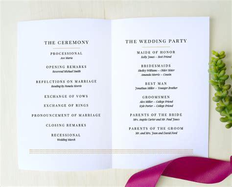 wedding program templates simple wedding program template 41 free word pdf psd documents free premium templates