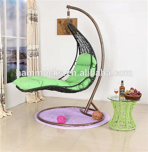 outdoor rattan swing hanging egg chair with stand for