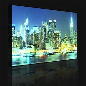 Led Bild New York : leuchtbild led bild new york city skyline br cke b ~ Pilothousefishingboats.com Haus und Dekorationen