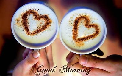 Morning Coffee Hearts Wallpapers Cup Romantic Quotes