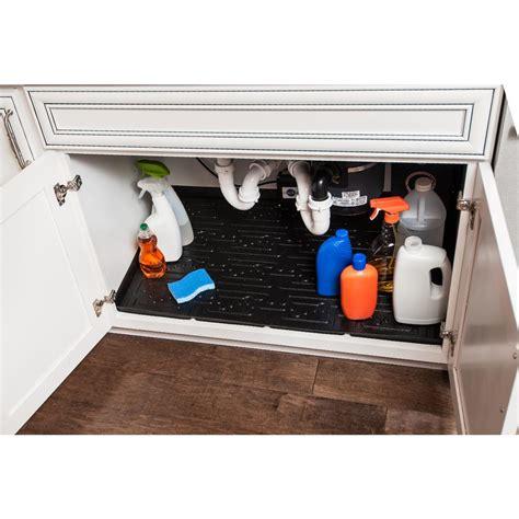 under sink mat drip xtreme mats black bathroom vanity depth under sink cabinet