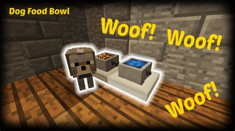 minecraft     dog food bowl minecraft project