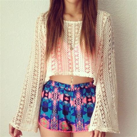 Shorts colorful shorts blouse shoes tank top sweater knitted sweater knitted cute ...