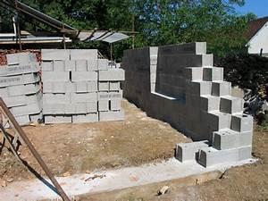 Monter Mur En Parpaing : faire un muret en parpaing monter un muret en parpaings ~ Premium-room.com Idées de Décoration