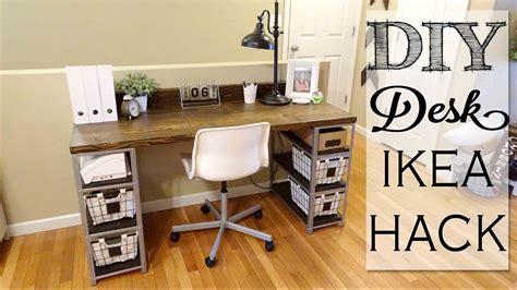 diy desk build ikea hack youtube