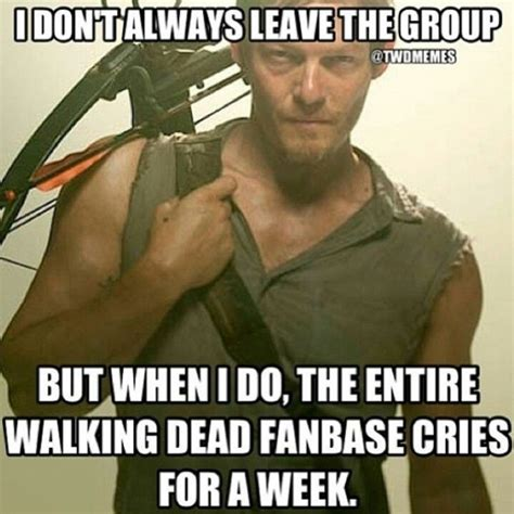 Walking Dead Daryl Meme - wtf wednesday peacocks and daryl dixon up humming a running blog