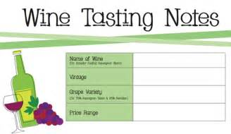 Wine Tasting Sheet Template Printable Wine Tasting Notes Popsugar Food