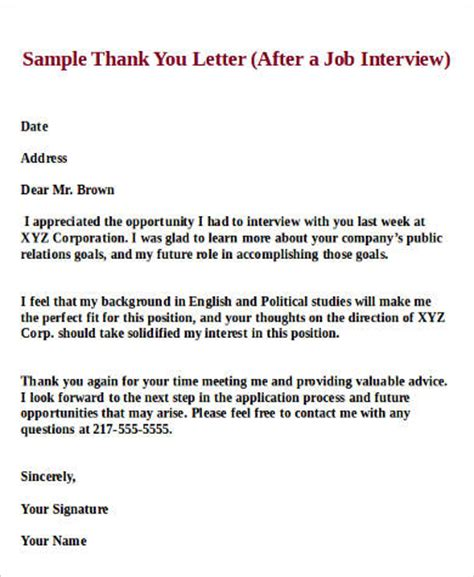 thank you letter to interviewer after is not offered 28 images how to get a can a thank you