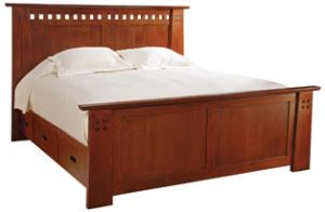 highlands storage bed queen mission collection