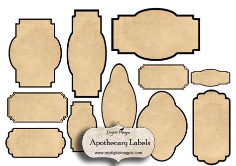 Bottle Label Template by 7 Best Images Of Free Blank Printable Vintage Jar Labels
