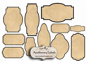 digital collage sheet blank apothecary labels antique shabby With blank labels for jars