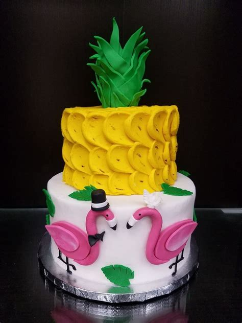 pineapple flamingo cake flamingo birthday cake flamingo