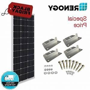 Renogy 100w 12v Solar Panel W   Z Bracket