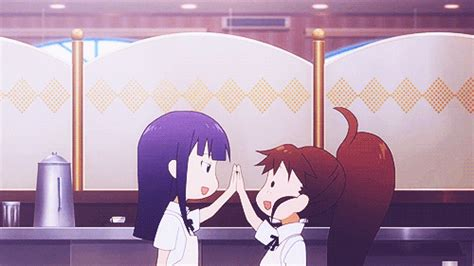 anime gif high five anime high five gif www pixshark images