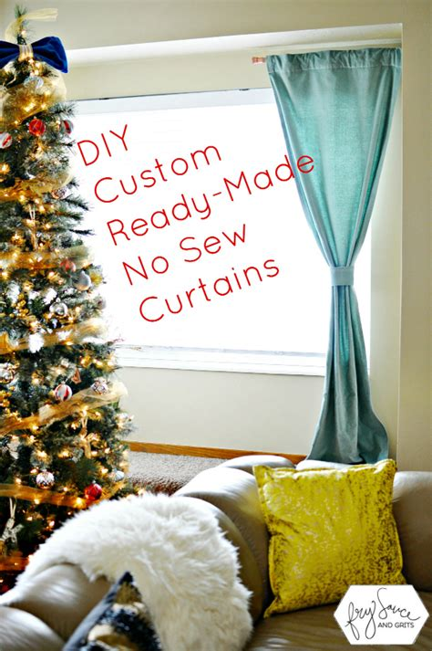 how to customize store bought curtains with no sew