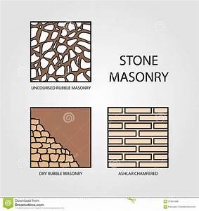 Diagrams Of Stone Masonry Stock Vector  Illustration Of