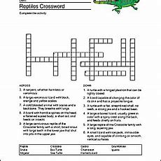 Reptiles Word Search, Vocabulary, And Crossword
