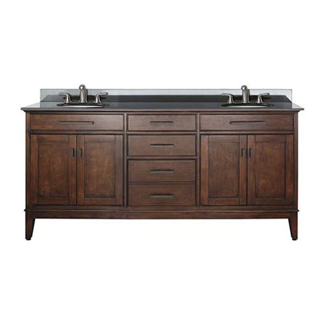 tobacco 72 inch sink vanity with black