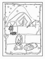 Camping Coloring Pages Printable Pdf Tent Coloring2print sketch template